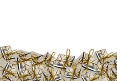 Серебряные коробки подарка рождества Стоковая Фотография RF