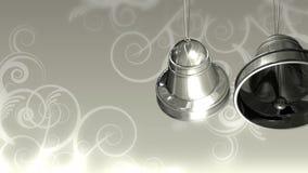 Серебряные колоколы на белизне иллюстрация штока