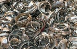 Серебряные кольца Стоковая Фотография RF