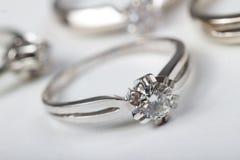 Серебряные кольца стоковое изображение rf