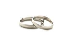 Серебряные кольца Стоковое Фото