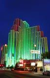 Серебряные курорт наследия и казино на ноче, Reno, Невада стоковая фотография