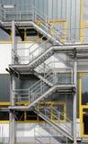 серебряные лестницы Стоковая Фотография RF