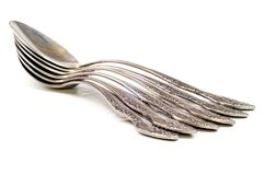 серебряные ложки Стоковые Изображения RF