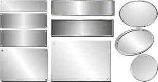 Серебряные металлические пластинкы Стоковое Изображение