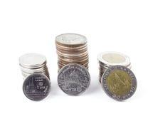 Серебряные монеты Таиланда Стоковое фото RF
