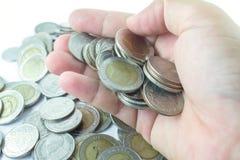 Серебряные монеты Таиланда Стоковое Изображение RF