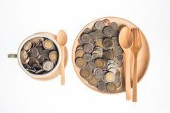 Серебряные монеты Таиланда Стоковое Фото