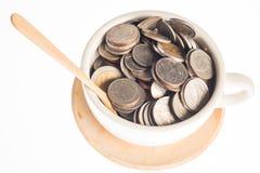 Серебряные монеты Таиланда Стоковые Фотографии RF