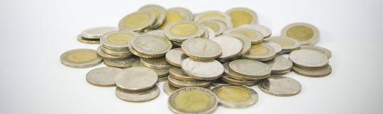 Серебряные монеты Стоковые Фото