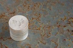Серебряные монеты Стоковая Фотография