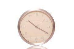 Серебряные настенные часы Стоковое Фото