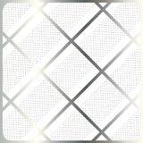 Серебряные нашивки, клетка на белом векторе предпосылки Стоковые Изображения