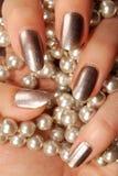 Серебряные ногти Стоковая Фотография RF