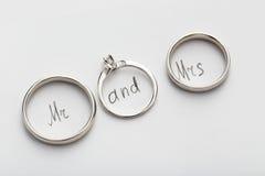 Серебряные обручальные кольца Стоковое Фото