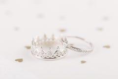Серебряные обручальные кольца Стоковые Фото