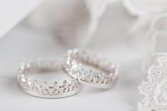 Серебряные обручальные кольца Стоковое фото RF
