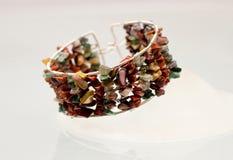 Серебряные драгоценности с красочными драгоценными камнями Стоковое Фото