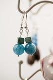Серебряные драгоценности с красочными драгоценными камнями Стоковая Фотография RF