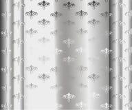 Серебряные роскошные винтажные обои Стоковое Изображение RF