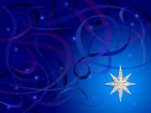 серебряные свирли снежинки Стоковые Фото
