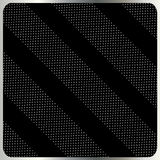 Серебряные точки польки на черном векторе предпосылки Стоковое Фото