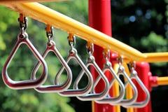 Серебряные треугольники в спортивной площадке Стоковые Фото
