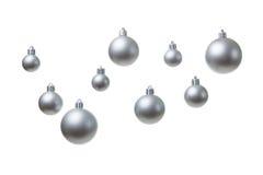 серебряные шарики рождества Стоковое Изображение