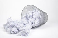 Серебряные ящик и бумаги погани Стоковое Изображение RF