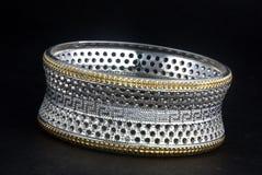 Серебряные bangles и kada Gents & x28; Диапазон & x29; Стоковая Фотография