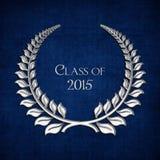 Серебряный лавр для класса 2015 иллюстрация вектора