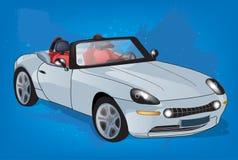 Серебряный автомобиль Стоковая Фотография