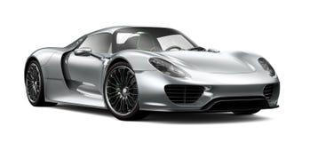 Серебряный автомобиль спортов Стоковое Изображение RF
