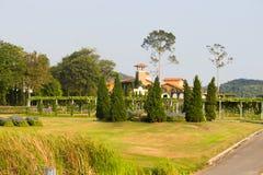 Серебряный виноградник озера в городе Таиланде Паттайя стоковое изображение rf