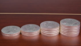 Серебряный вклад весовой монеты, канадский кленовый лист Стоковые Изображения RF