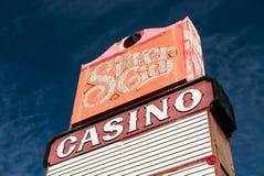 Серебряный знак казино города Стоковое Изображение RF