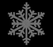 Серебряный значок снежинки Стоковые Изображения