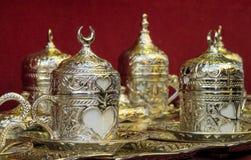 Серебряный комплект бака чая Стоковые Изображения RF