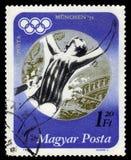 Серебряный медалист Андреа Gyarmati, венгерский пловец, Олимпиады лета 1972, Мюнхен Стоковая Фотография RF