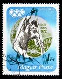 Серебряный медалист Tamas Wichmann, Олимпиады лета 1972, ser Мюнхена стоковые фото