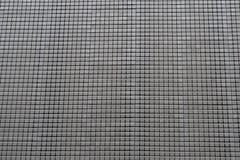 Серебряный металл придает квадратную форму предпосылке вида решетки Стоковые Изображения RF
