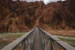 Серебряный мост на гранд-каньоне Стоковые Изображения RF