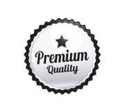 Серебряный наградной качественный значок Стоковое фото RF