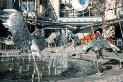 Серебряный памятник аиста в Сиднее Стоковая Фотография RF