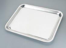 серебряный поднос стоковое изображение
