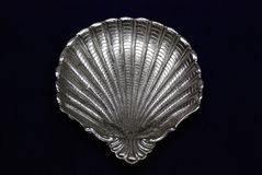 серебряный поднос Стоковое Фото