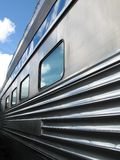 серебряный поезд Стоковая Фотография RF