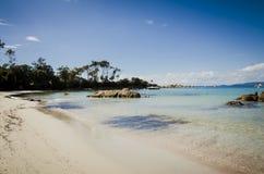 Серебряный пляж с limpid водой в Корсике стоковое изображение rf