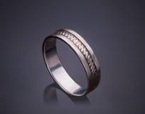 Серебряный самоцвет кольца Стоковые Фотографии RF