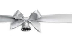 Серебряный смычок ленты Стоковое Изображение RF